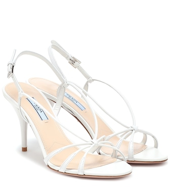 Prada - Leather sandals - mytheresa.com