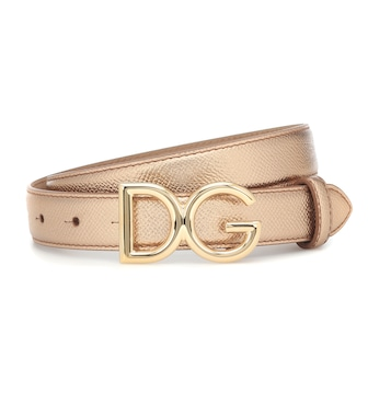 Dolce & Gabbana - Metallic leather belt - mytheresa.com