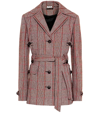 Miu Miu - Checked wool-blend jacket - mytheresa.com