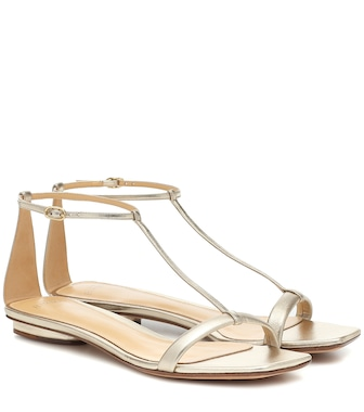 Alexandre Birman - Lally metallic leather sandals - mytheresa.com