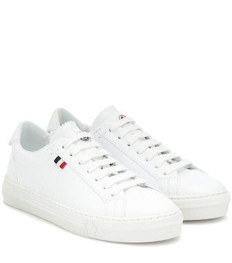 Moncler - Alodie leather sneakers - mytheresa.com