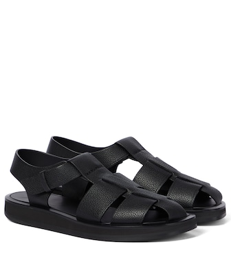 The Row - Fisherman leather sandals - mytheresa.com