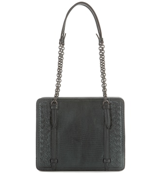 Bottega Veneta - Intrecciato lizard leather shoulder bag - mytheresa.com