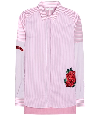 Each x Other - Embroidered striped cotton shirt - mytheresa.com