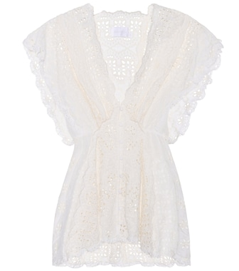 Zimmermann - Paradiso cotton and silk lace blouse - mytheresa.com