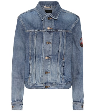 Saint Laurent - Denim jacket with appliqué - mytheresa.com