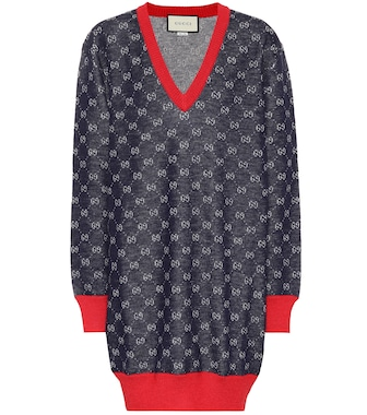 Gucci - GG wool and alpaca sweater dress - mytheresa.com