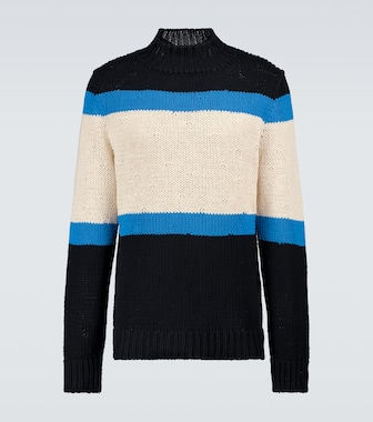 Jil Sander - Colorblocked crewneck sweater - mytheresa.com