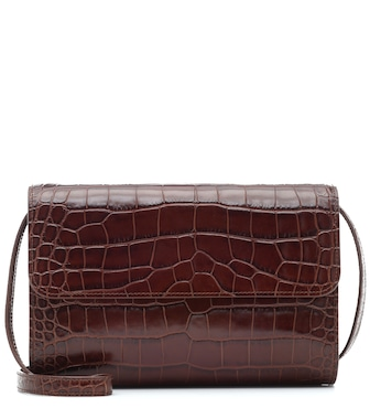 By Far - Crossover croc-effect shoulder bag - mytheresa.com