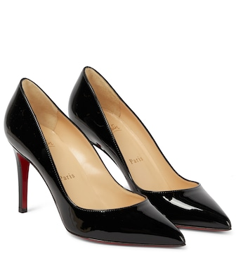 Christian Louboutin - Pigalle 85 patent-leather pumps - mytheresa.com