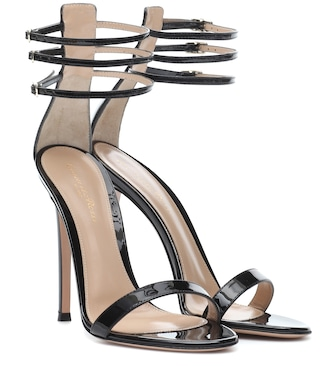 Gianvito Rossi - Patent leather sandals - mytheresa.com