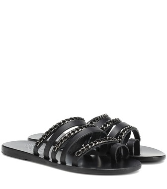 Ancient Greek Sandals - Niki Chains leather sandals - mytheresa.com