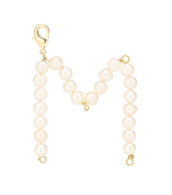 Timeless Pearly - Letter M pearl-embellished charm - mytheresa.com