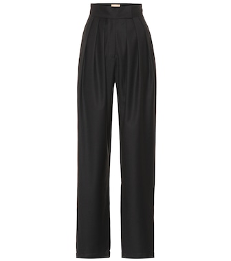 Matériel Tbilisi - High-rise pleated wool pants - mytheresa.com