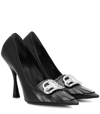 Balenciaga - BB Knife leather pumps - mytheresa.com