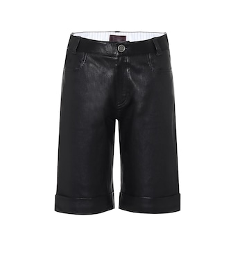 Stouls - Sophie leather bermuda shorts - mytheresa.com
