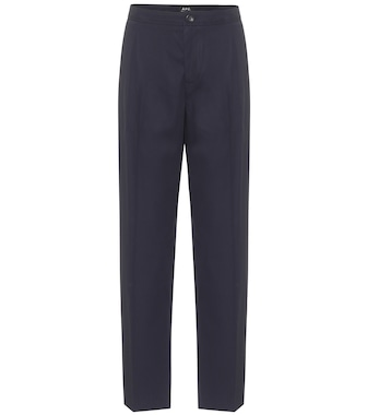 A.P.C. - Amalfi cotton-crêpe straight pants - mytheresa.com