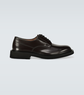 Bottega Veneta - Leather Derby shoes - mytheresa.com