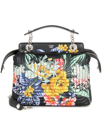 Fendi - DotCom Click printed leather shoulder bag - mytheresa.com