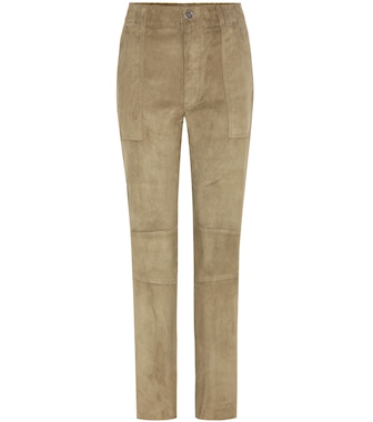 Stouls - Tommy suede trousers - mytheresa.com