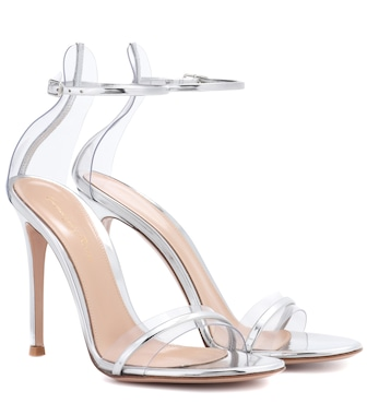 Gianvito Rossi - G-String metallic leather sandals - mytheresa.com