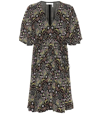 Chloé - Printed crêpe dress - mytheresa.com