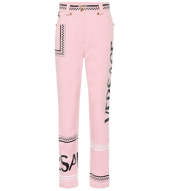 Versace - Printed high-rise straight jeans - mytheresa.com