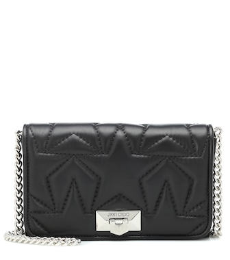 Jimmy Choo - Helia leather shoulder bag - mytheresa.com