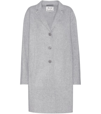 Acne Studios - Elsa Doublé grey wool and cashmere-blend coat - mytheresa.com
