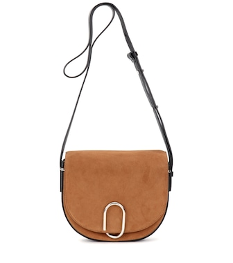 3.1 Phillip Lim - Alix Saddle suede cossbody bag - mytheresa.com