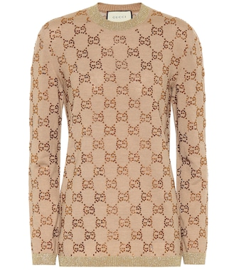 Gucci - GG embellished wool sweater - mytheresa.com