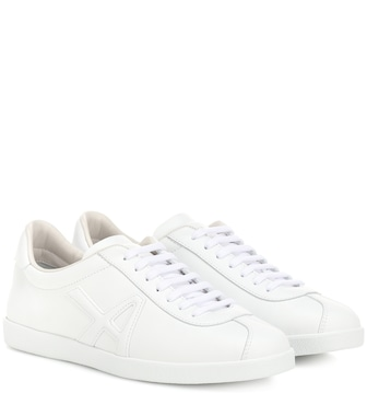 Aquazzura - The A leather sneakers - mytheresa.com