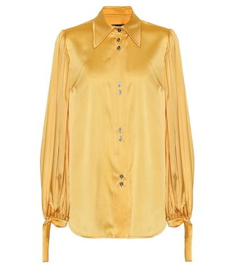 Ellery - Monpi stretch-silk satin blouse - mytheresa.com