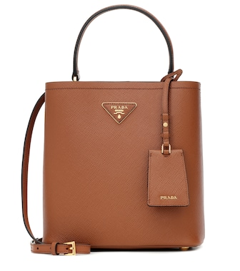 Prada - Panier Medium leather tote - mytheresa.com