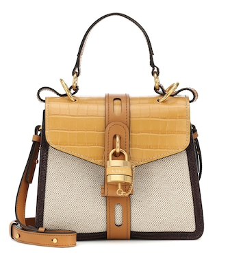 Chloé - Aby Day Small canvas shoulder bag - mytheresa.com
