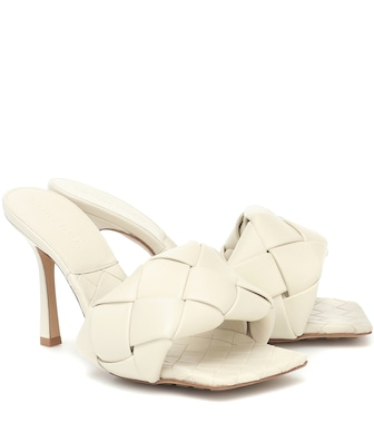 Bottega Veneta - BV Lido leather sandals - mytheresa.com