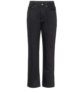 Acne Studios - High-rise straight cropped jeans - mytheresa.com