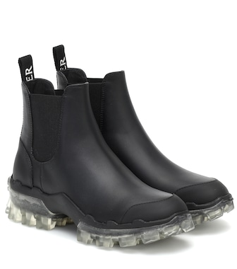Moncler - Hanya leather ankle boots - mytheresa.com