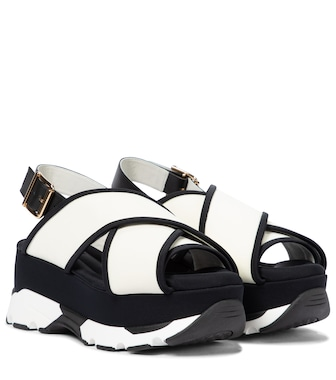 Marni - Leather platform sandals - mytheresa.com