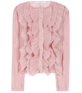 Givenchy - Ruffled blouse - mytheresa.com