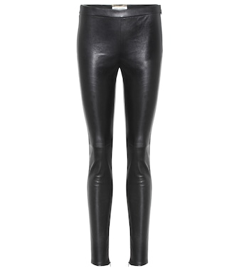 Saint Laurent - Leather leggings - mytheresa.com
