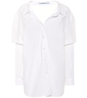 Prada - Cotton button-down shirt - mytheresa.com