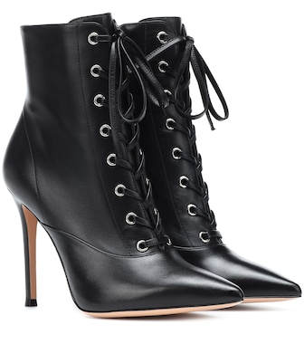 Gianvito Rossi - Exclusive to Mytheresa – Neville leather ankle boots - mytheresa.com