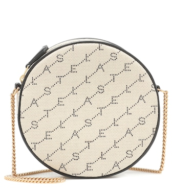 Stella McCartney - Mini Round Monogram shoulder bag - mytheresa.com