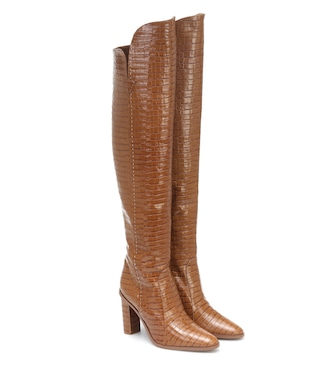 Max Mara - Beboot croc-effect leather boots - mytheresa.com