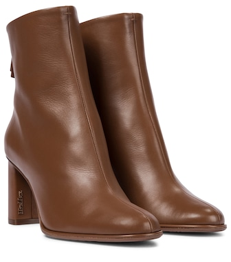 Max Mara - Leather ankle boots - mytheresa.com