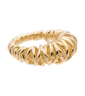 Bottega Veneta - 18kt gold-plated coil ring - mytheresa.com