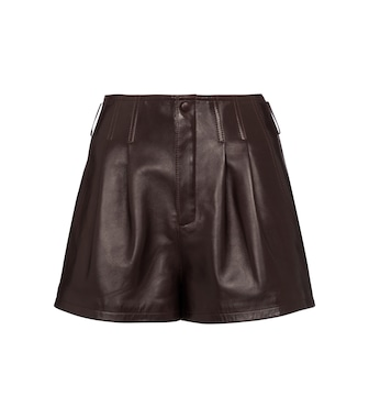 Saint Laurent - Leather shorts - mytheresa.com