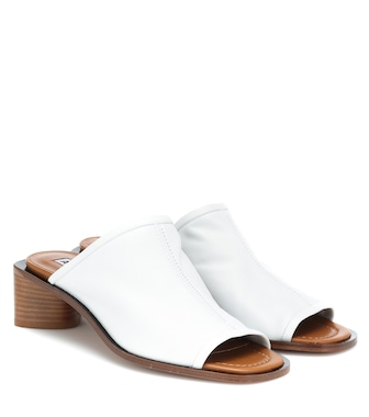 Acne Studios - Leather sandals - mytheresa.com