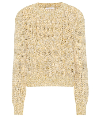 Chloé - Cotton-blend sweater - mytheresa.com